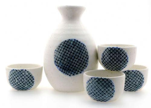 Snow and Ice Sake Set 4 cups - Japanese